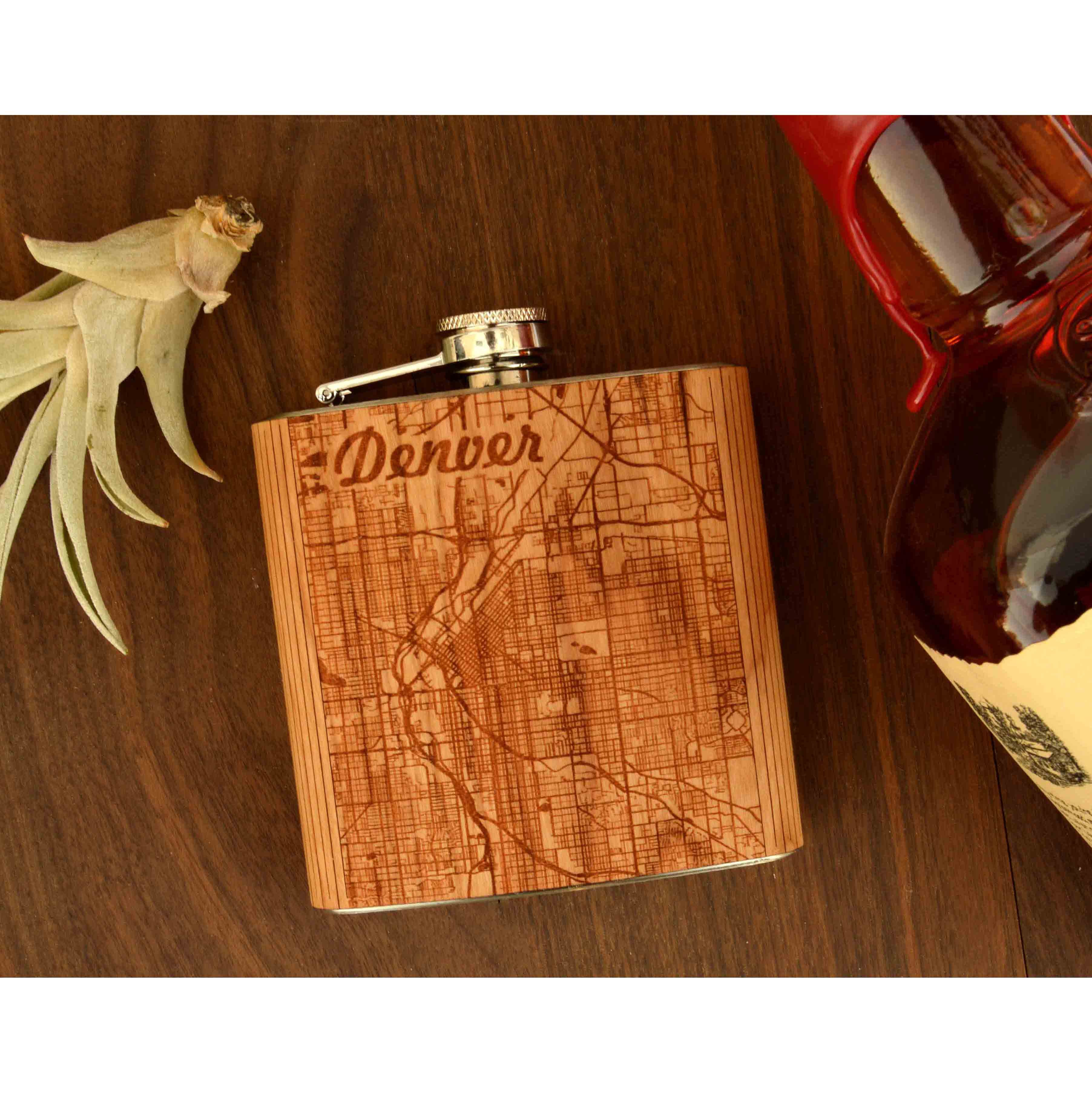 City Map Flask - Autumn Woods Co.