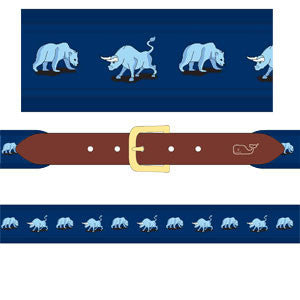 Men's Bull & Bear Belt - Navy