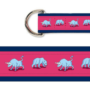 Ladies' Bull & Bear Belt - Navy & Red