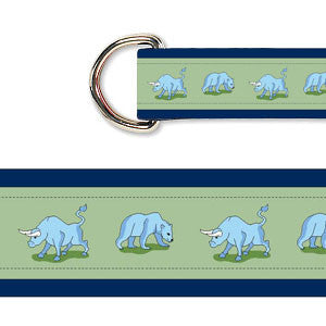 Ladies' Bull & Bear Belt - Navy & Green