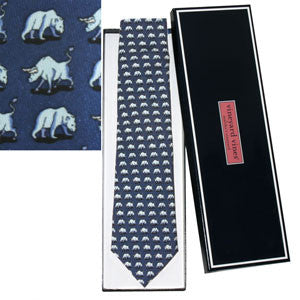 Vineyard Vines Bull & Bear Tie - Dark Blue