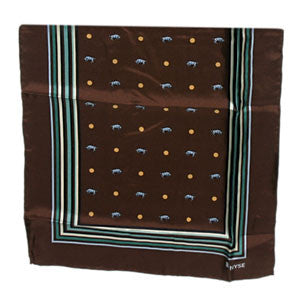 Silk Oblong Scarf - Brown