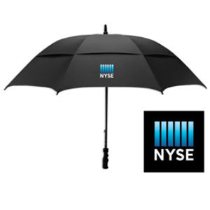 Golf Umbrella with NYSE Logo - Black