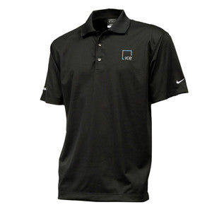 Nike Dri-Fit Micro Pique Polo with ICE Logo - Black