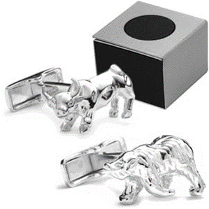 Bull Bear Cufflinks with ICE Logo