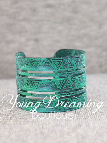 Turquoise Metal Cuffs!