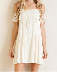 Ivory Cold Shoulder Dress!