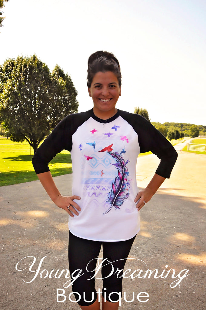 Feathers Flying Tee