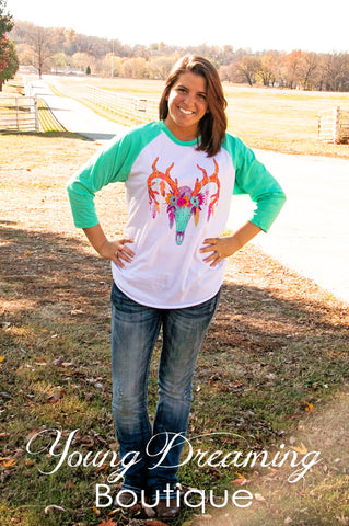 Feathers and Flowers Tee!