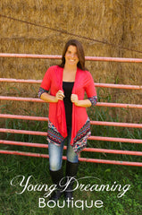 Forever Love Coral Cardigan!