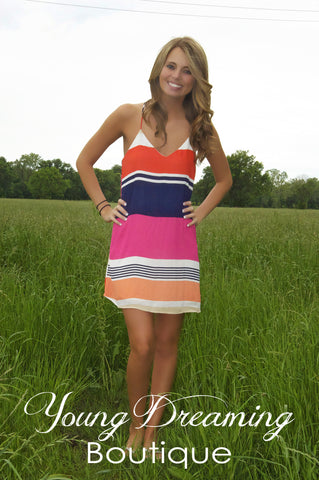 Fuchsia Stripe Dress!