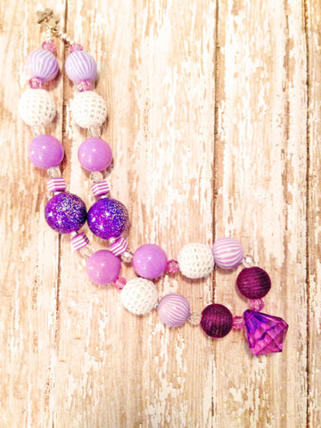 Purple Chunky Bubblegum Necklace!