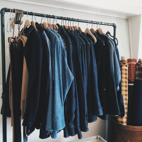 DENIM SAMPLES ON RACK BY SHAABI