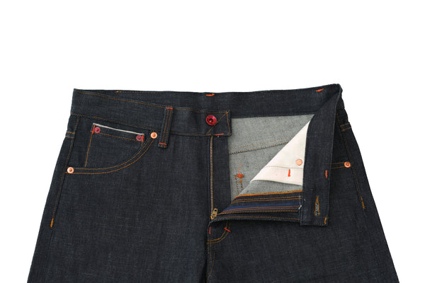 242 Button-Fly Selvedge Jeans by Shaabi