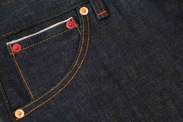 Coin Pocket on 242 Selvedge Jeans by Shaabi