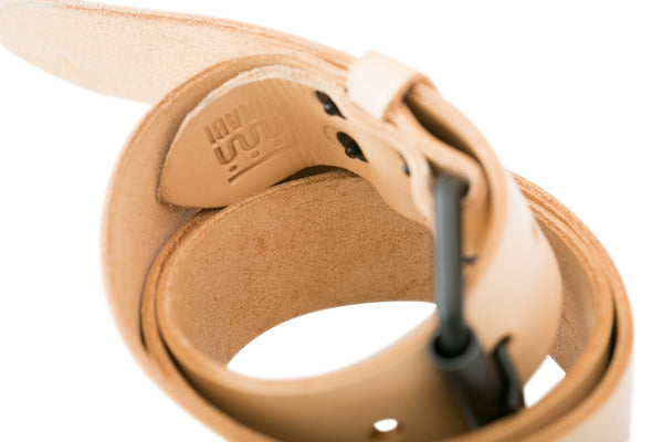 Natural handmade leather belt by Shaabi