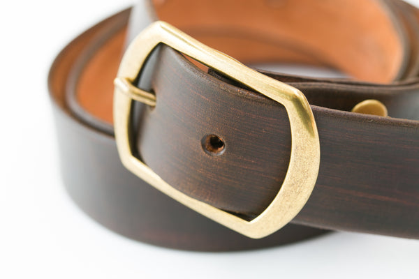 handcrafted brown leather belt by shaabi