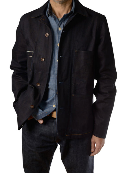 Selvage Denim Engineer Jacket by Shaabi Denim