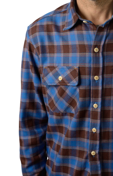 Men's button-down flannel shirt by Shaabi