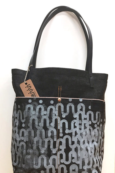 SHAABI Raw Denim Tote Bag