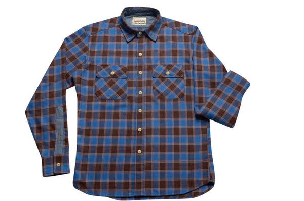 Flannel button-down shirt by Shaabi