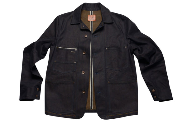Men's Selvage Denim Workwear Jacket