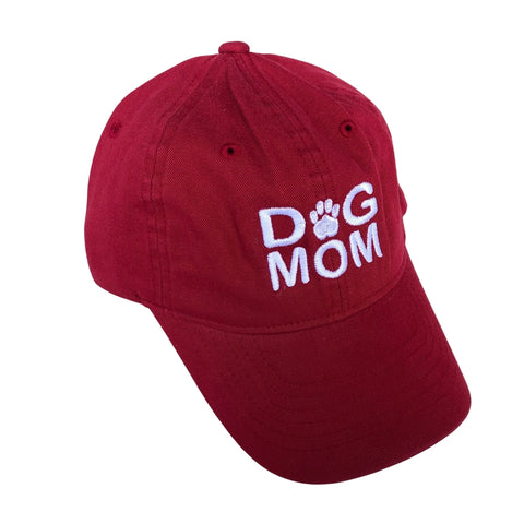 Dog Mom Hat, Cranberry