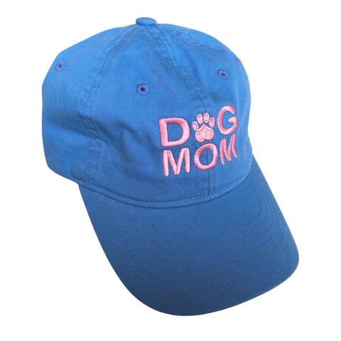 Dog Mom Hat, Light Blue