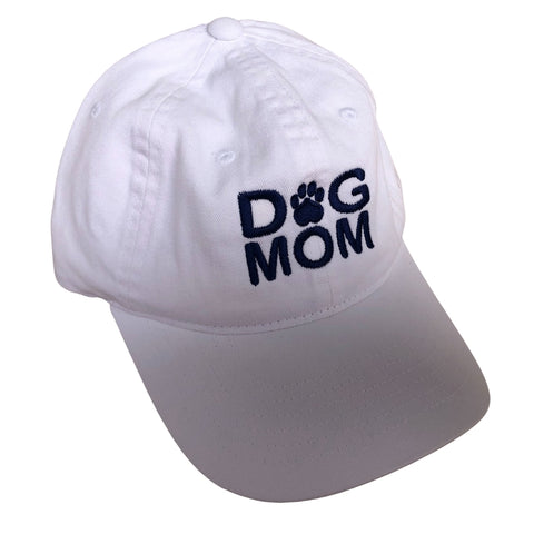 Dog Mom Hat, White