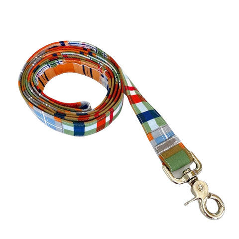 Blue Madras Leash