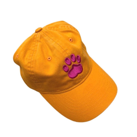 Paw Print Hat, Orange