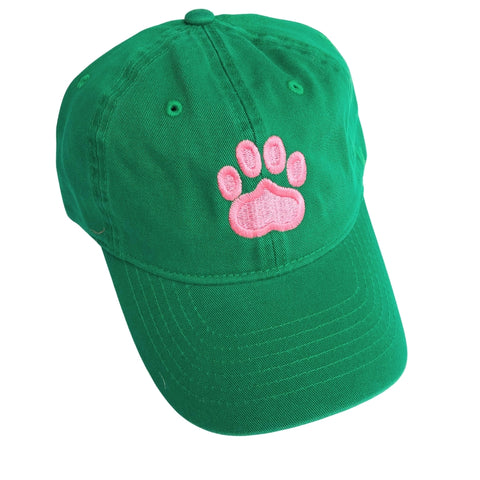 Paw Print Hat, Kelly Green