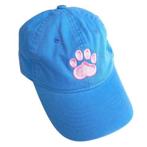 Paw Print Hat, Light Blue