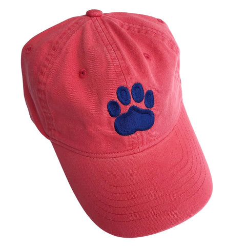 Paw Print Hat, Newport Red