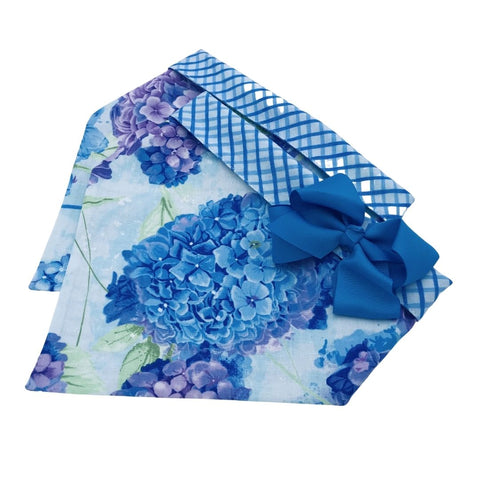 Light Blue Hydrangea Bandana
