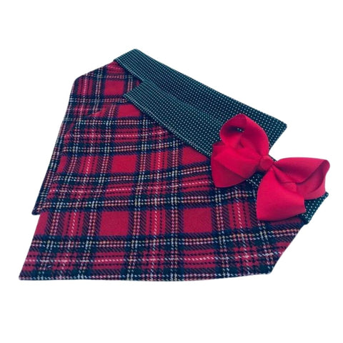 Red  Plaid Washable Wool
