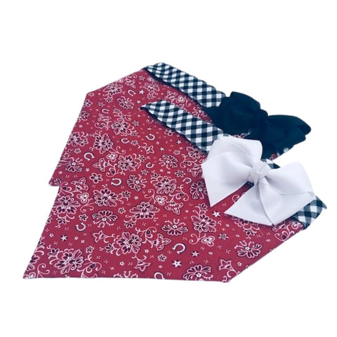 Red Horseshoe Bandana