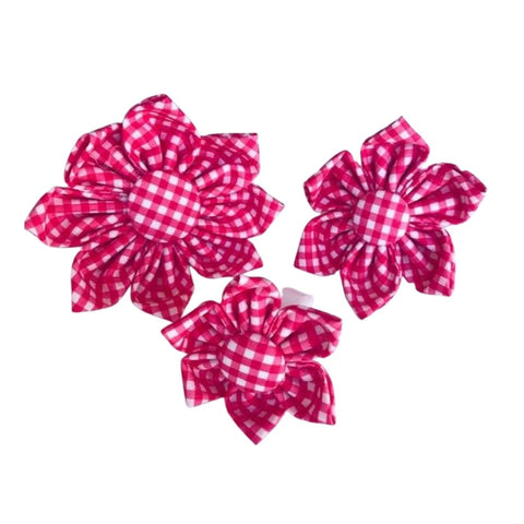 Watermelon Gingham Collar Flowers