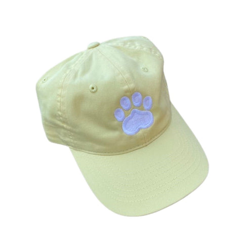 Paw Print Hat, Yellow
