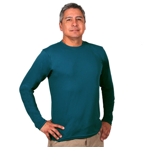 Nozone Sun safe UPF 50+ long sleeved Men's Versa-T ink blue