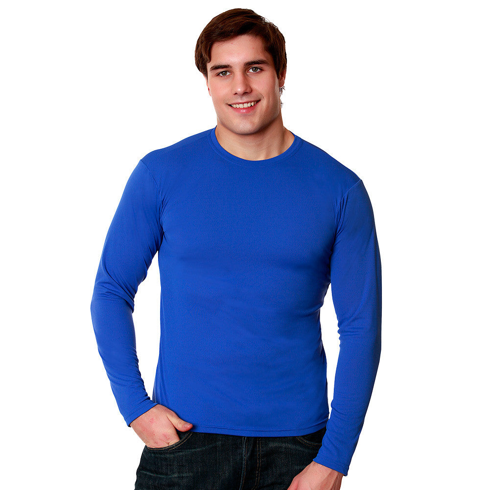 Nozone UV Safe Men's Sun Protective Long Sleeve Versa-T -blue
