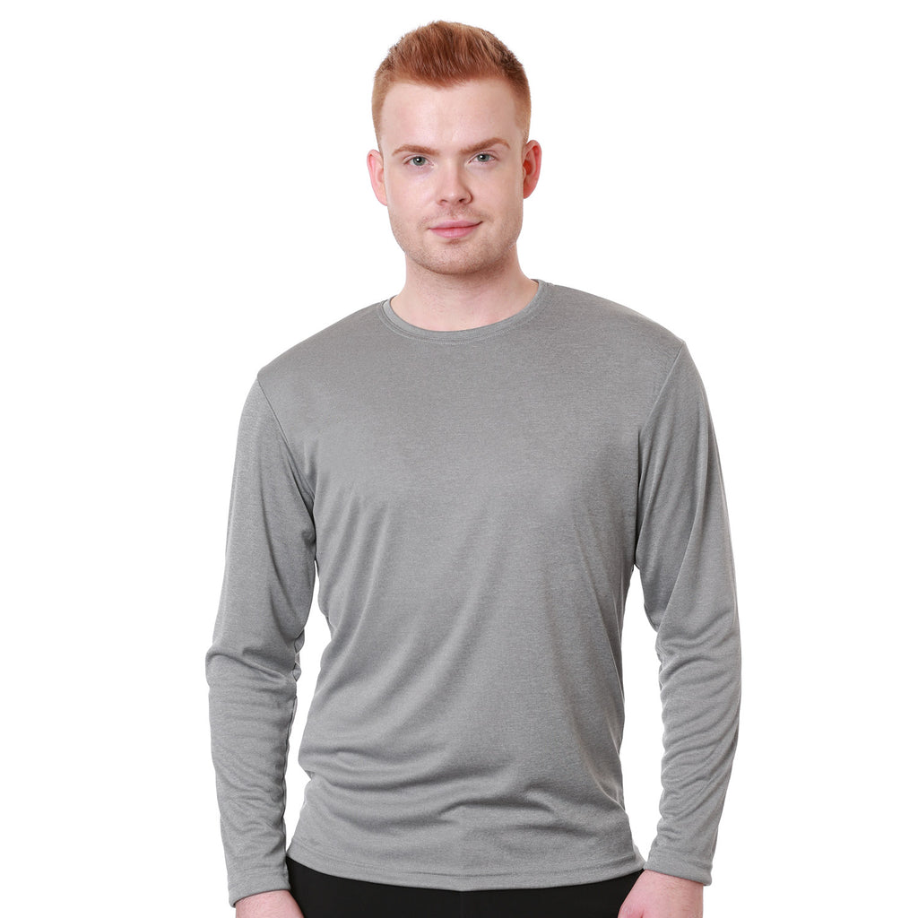 Nozone Men's Relaxed fit sun protective long sleeved T shirt UPF 50+ - Grey comfortable lightweight