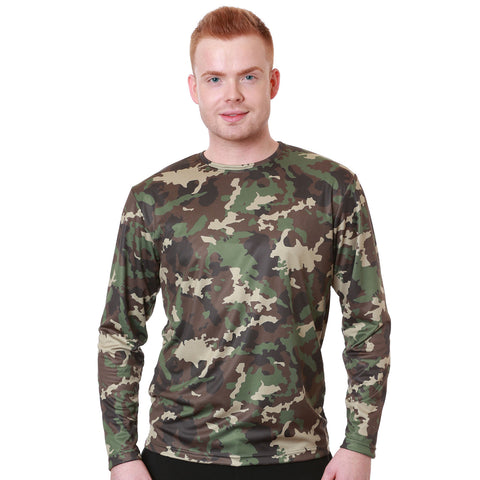 Nozone men's loose fit brethable uv blocking t shirt UPF 50+ in camouflage