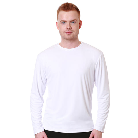 Nozone men's sun protective relaxed fit t shirt UPF 50+ in white breathable soft