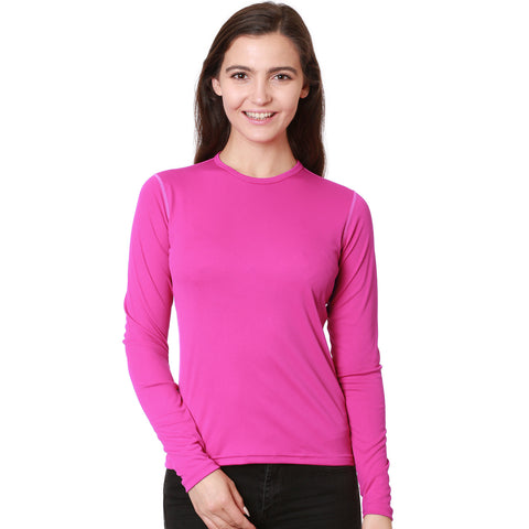 Pretty Pink Sun Safe Women's Long Sleeved Shirt
