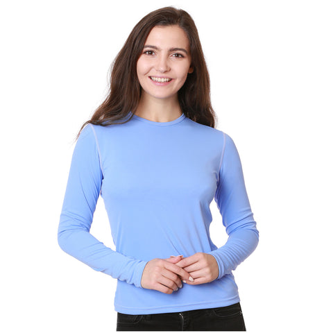 Nozone versa Blue SPF 50+ Women's Long Sleeved Shirt lightweight breathable performance soft