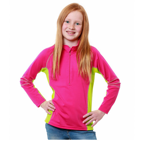 Nozone sun protective girls Swim Shirt in pink Nautilus
