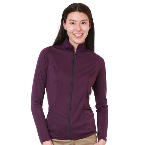 Nozone Calabria UPF 50+ Equestrian Full Zip Shirt in Purple