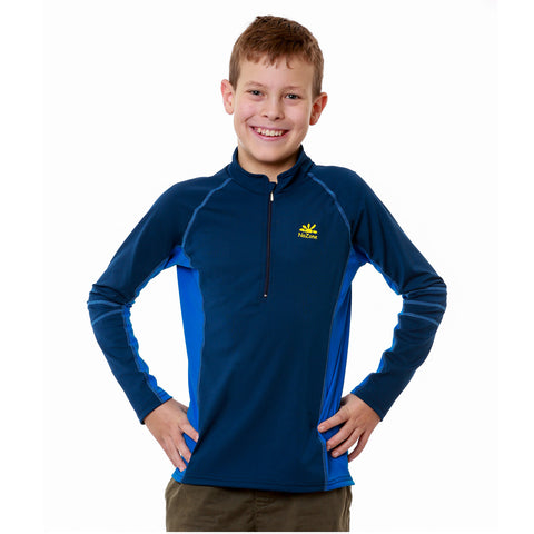 UPF 50+ Kids Sun-Blocking Long Sleeved Swim Shirt Rash Guard