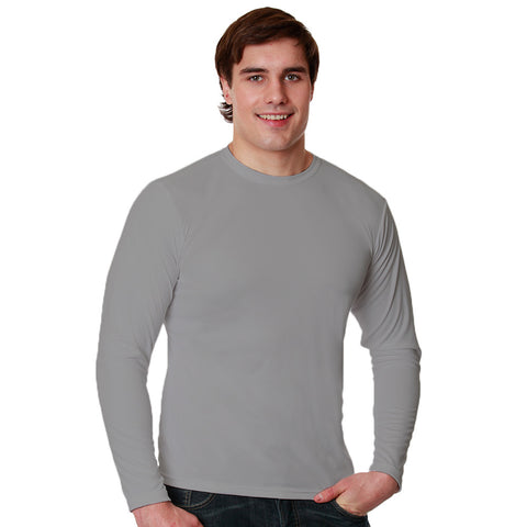 Nozone Sun Safe Men's long sleeved Versa-T UPF 50+- grey